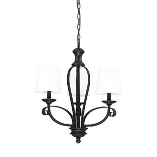 Charleston 3-light Matte Black Chandelier