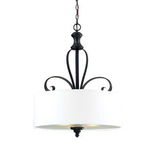 Charleston 3-light Matte Black Pendant