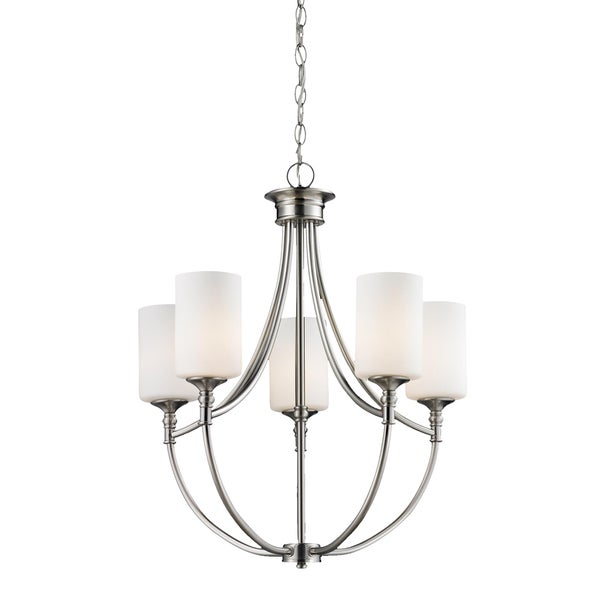 Cannondale 5-light Brushed Nickel Chandelier