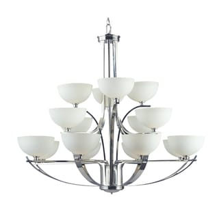 Ellipse 16-light Chrome Chandelier