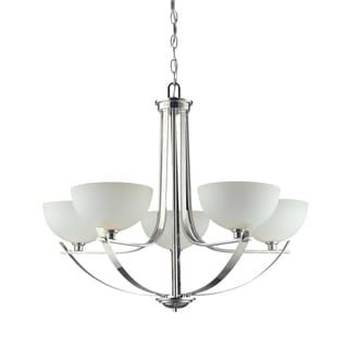 Ellipse 5-light Chrome Chandelier