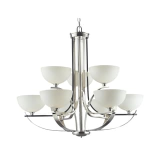 Ellipse 9-light Chrome Chandelier