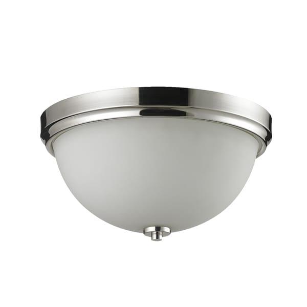 Ellipse 2-light Chrome Flush Mount Fixture