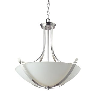 Ellipse 3-light Chrome Chandelier