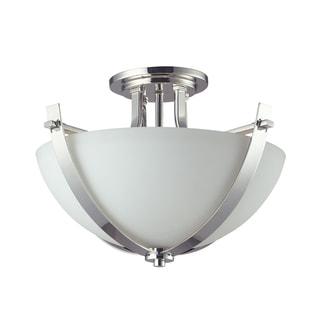 Ellipse 3-light Chrome Semi-flush mount Fixture