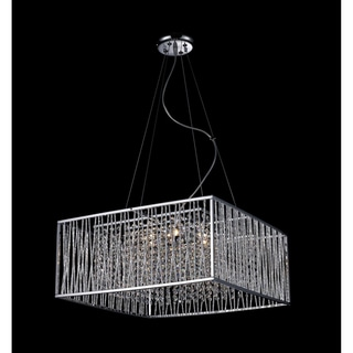 Zenith Chrome 6-light Crystal Chandelier