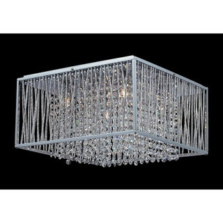 Zenith Chrome 5-light Crystla Flush-mount Fixture