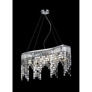 Nyssa Chrome 6-light Crystal Chandelier