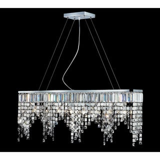 Nyssa Chrome Eight-Light Indoor Crystal Chandelier