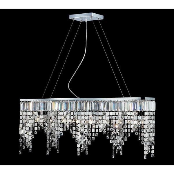 Nyssa Chrome Eight-Light Indoor Crystal Chandelier