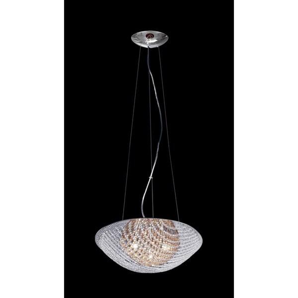 Athene Indoor Chrome 7-Light Crystal Chandelier