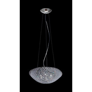 Athene Chrome 7-Light 2-Layer Crystal Chandelier