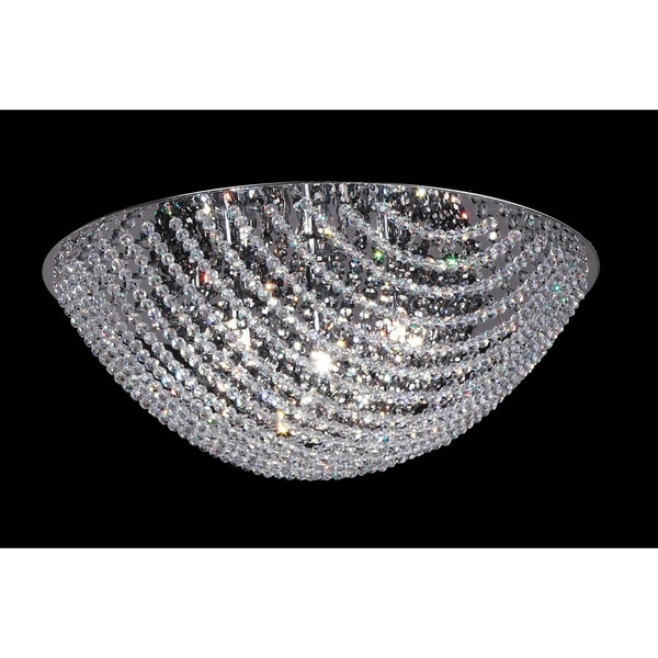 Athene Chrome 4 Light Crystal Flush Mount Fixture
