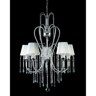Palomar Chrome 5 Light Crystal Chandelier