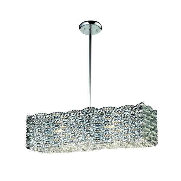 Adara Steel Rectangular Shade Light