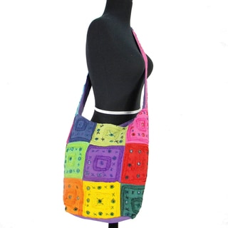 Multi Colored Patchwork Cross Body Bag (India)