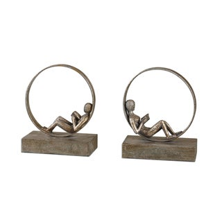 Lounging Reader Bookends (Set of 2)