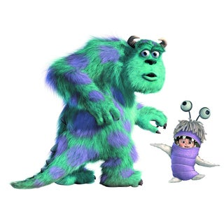 Monsters Inc Giant Sully and Boo Peel and Stick Wall Decals