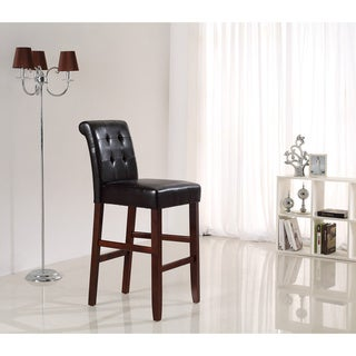 Essex 29-inch Deluxe Tufted Faux Leather Bar Stools (Pack of 2)