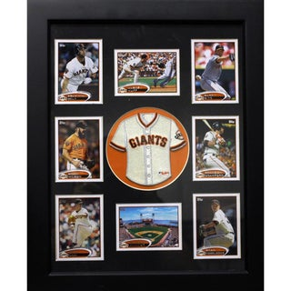 San Francisco Giants Mini Jersey and Baseball Cards Frame