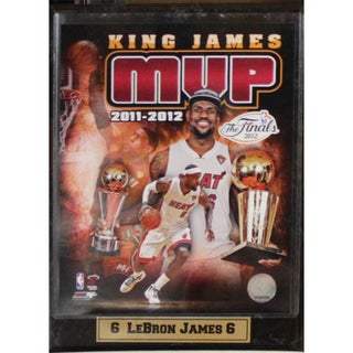 Miami Heat Lebron James Finals MVP Photo Plaque (9 x 12)
