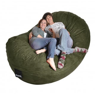 Eight-foot Olive Green Oval Microfiber/ Foam Bean Bag