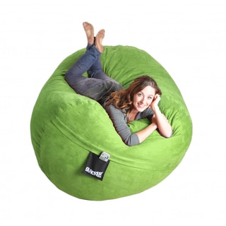 Lime Oval 6-foot Microfiber/ Foam Bean Bag