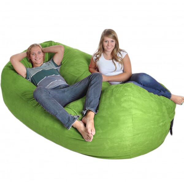 Lime Oval 8-foot Microfiber/ Foam Bean Bag