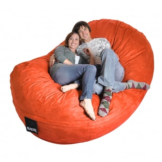 Pumpkin Oval Microfiber/ Foam 8-foot Bean Bag