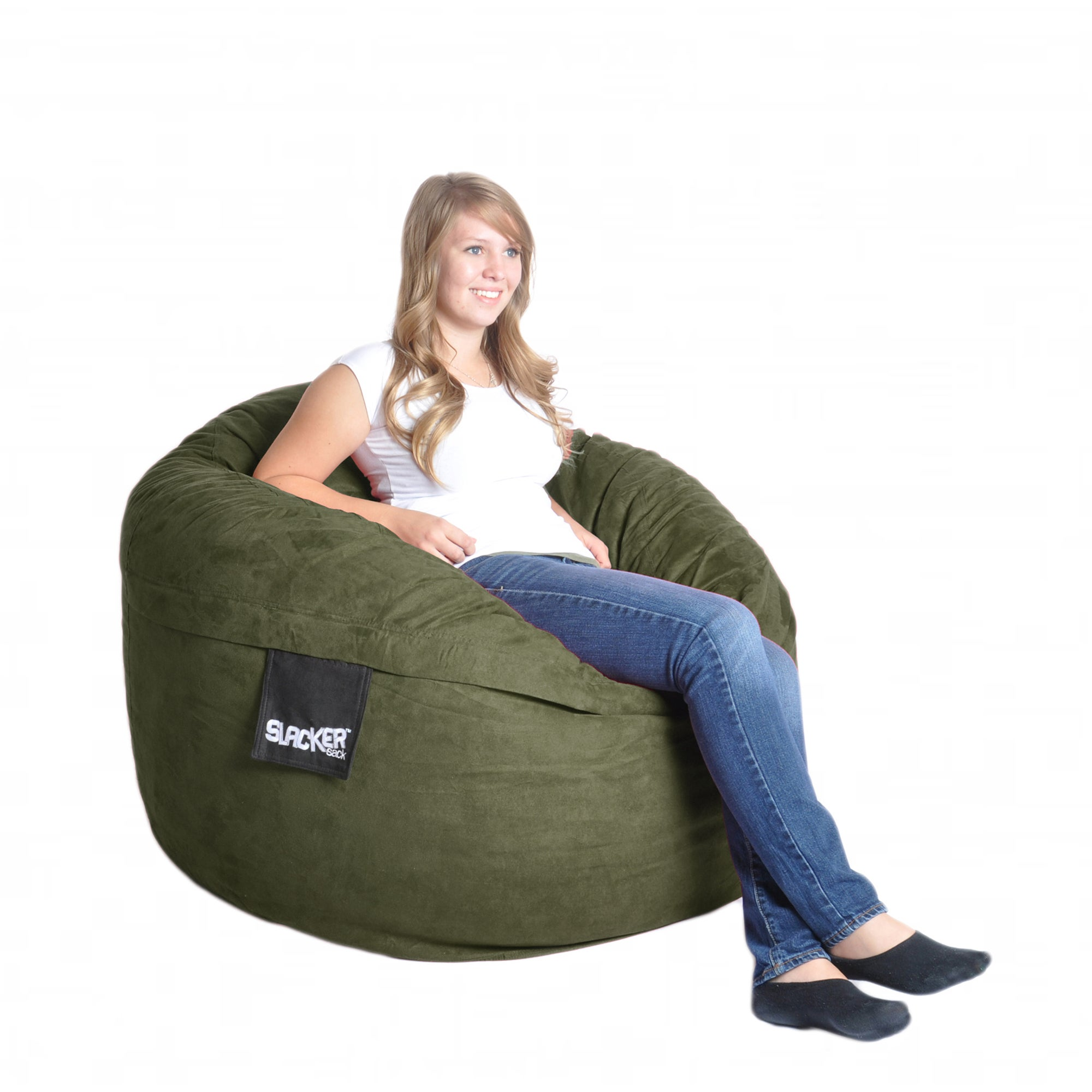 Olive Green 4-foot Microfiber/ Foam Bean Bag at Sears.com