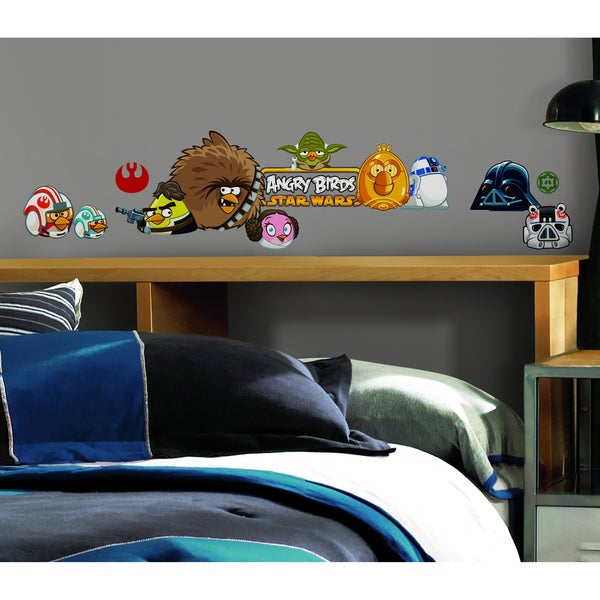 Angry Birds Star Wars Peel and Stick Wall Decals (Pack of 24)