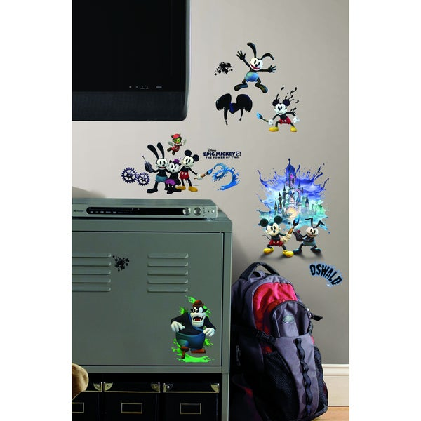 Mickey & Friends Epic Mickey 2 Peel and Stick Wall Decals Set