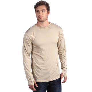 Kenyon Men's Tan Long Sleeve Crew Neck Shirt