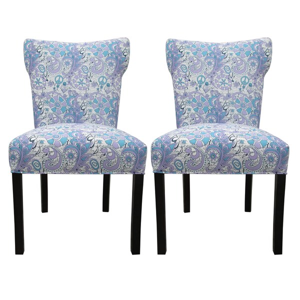 varia upholstered dining chairs set of 2 images
