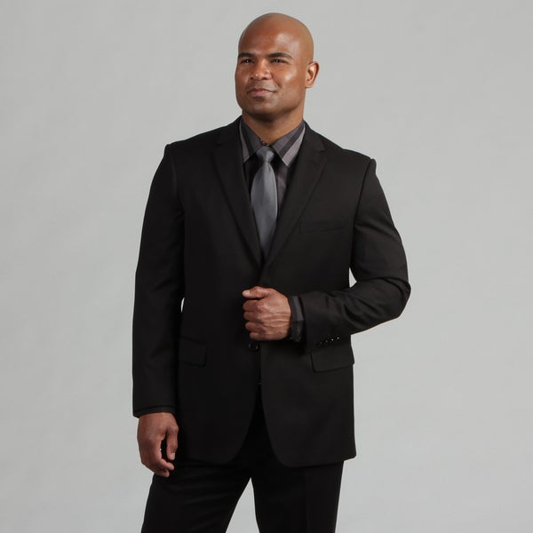 Angelo Rossi Men's Tailored Black 2-piece Suit