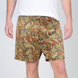 Majestic Sterling Men's Spring Paisley Silk Boxer Short
