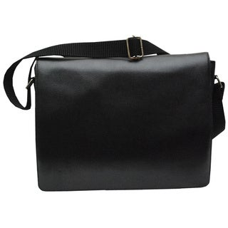 Kozmic Pebble Leather Messenger Bag