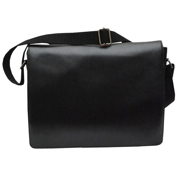 Kozmic Pebble Leather Messenger Bag
