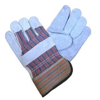 Azusa Safety Men's L/ XL Natural Cow Split Leather Gloves (12 Pairs)