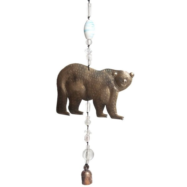 Handmade Nanook of The North Grizzly Bear Wind Chime (India) 10359523