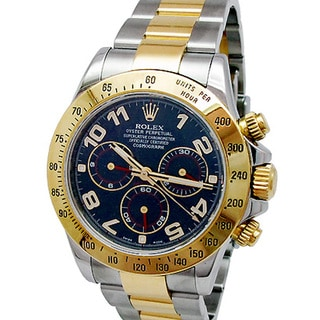Pre-owned Rolex Men's 18k Yellow Gold Daytona Watch