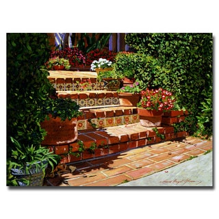 David Lloyd Glover 'A Spanish Garden' Canvas Art