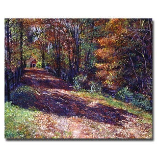 David Lloyd Glover 'Old Farmhouse Road' Canvas Art