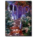 David Lloyd Glover 'Cottage Courtyard' Canvas Art