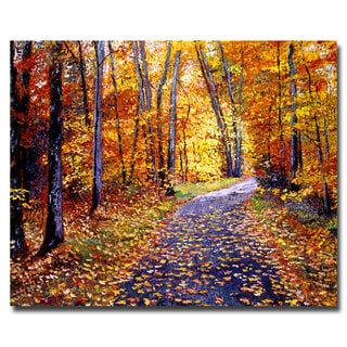 David Lloyd Glover 'Leaf Covered Road' Canvas Art