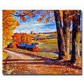 David Lloyd Glover 'Autumn Evening' Canvas Art