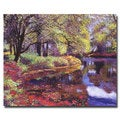 David Lloyd Glover 'Refrelctions of Azalea Blooms' Canvas