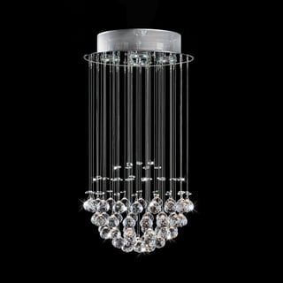 Cascade Ceiling Chandelier with Dense Crystal Spheres