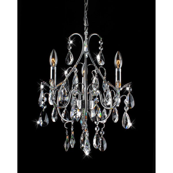 Serenity 3-light Chrome and Crystal Chandelier