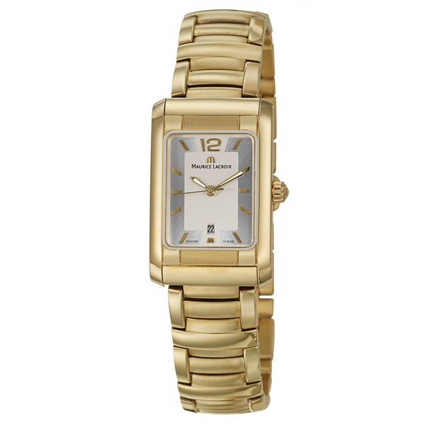 Maurice Lacroix Women's Yellow Gold-plated Steel 'Miros' Watch